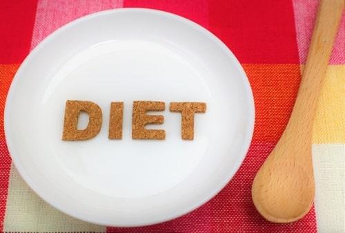 ダイエットの形をしたクッキー