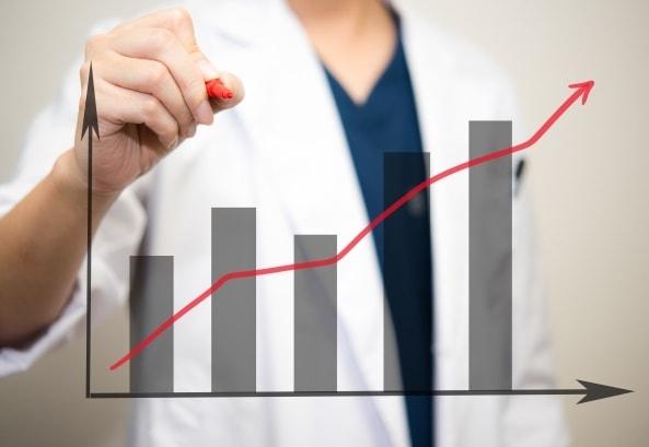 医者が統計を調べる